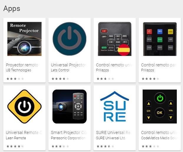 apps para controlar proyector