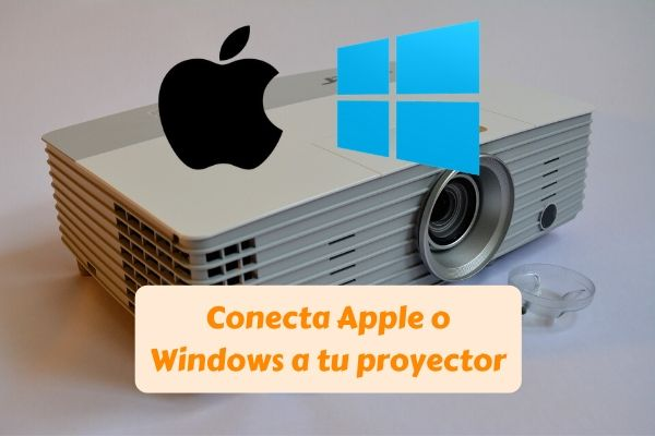 conectar movil ipad pc windows apple proyector