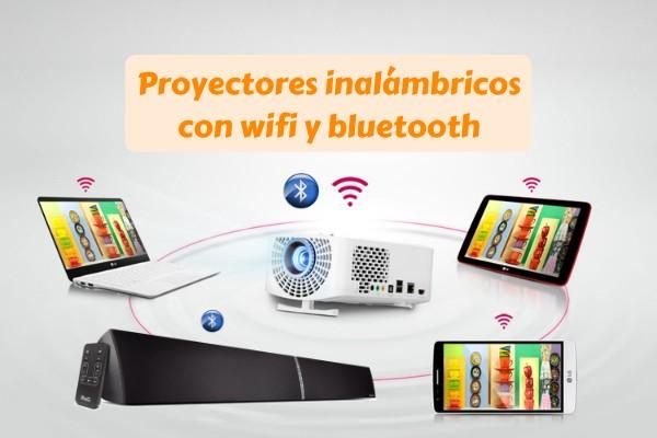 proyector inalámbrico con wifi y bluetooth